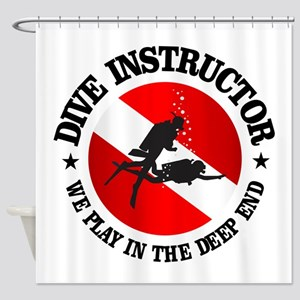 Dive Instructor (Deep End) Shower Curtain