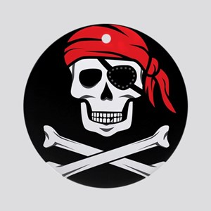 Pirate Skull and Crossbones Ornament (Round)