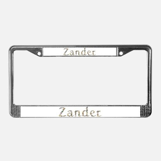 Zander Seashells License Plate Frame