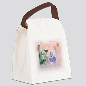 Pastel perfume bottles Canvas Lunch Bag