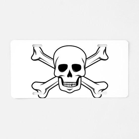 Cute Skull crossbones Aluminum License Plate