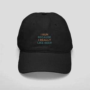 I run because I really like beer Black Cap