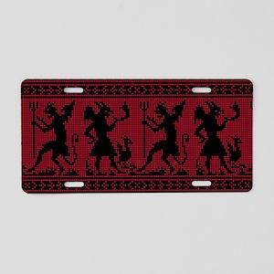 Devil Pattern Aluminum License Plate
