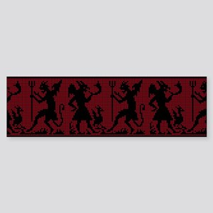 Devil Pattern Bumper Sticker