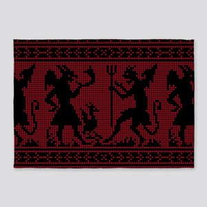 Devil Pattern 5'x7'Area Rug