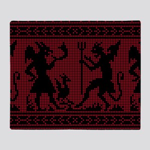 Devil Pattern Throw Blanket