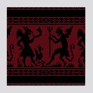 Devil Pattern Tile Coaster