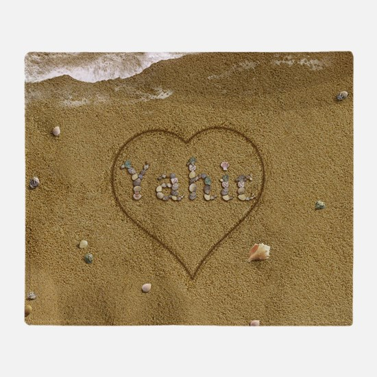 Yahir Beach Love Throw Blanket