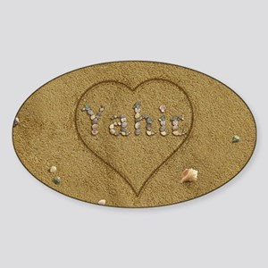 Yahir Beach Love Sticker (Oval)
