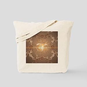Om symbol made of rusty metal Tote Bag