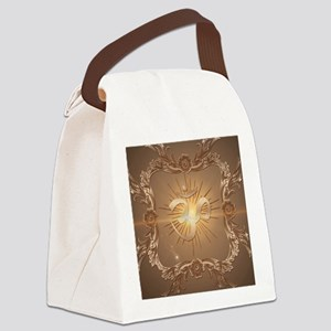 Om symbol made of rusty metal Canvas Lunch Bag