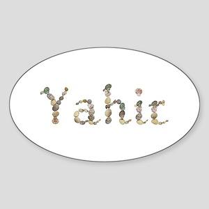 Yahir Seashells Oval Sticker