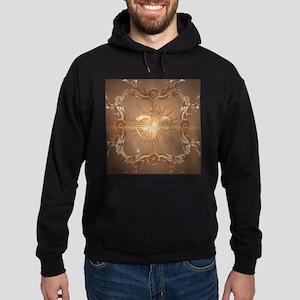 Om symbol made of rusty metal Hoodie