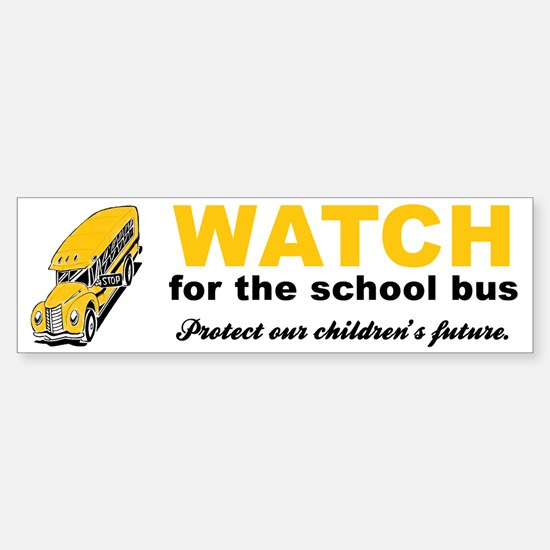 Watch for School Bus Vinyl Bumper Bumper Bumper Sticker