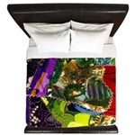 Colorful patchwork fabric King Duvet