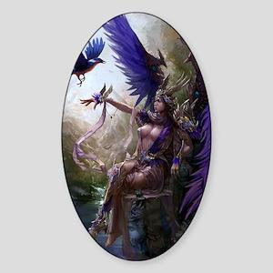 Mythical Beauty  Sticker (Oval)