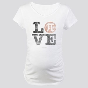 Love Pi Day Distressed Maternity T-Shirt
