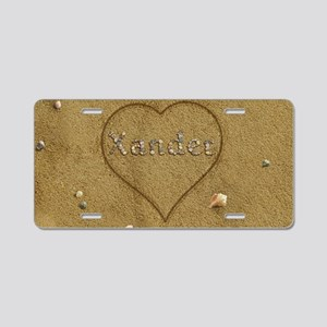 Xander Beach Love Aluminum License Plate