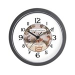Alice All Mad Here Wall Clock