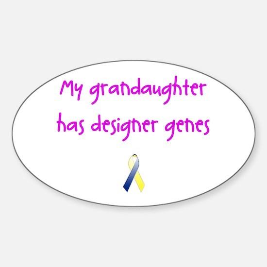 Designer Genes Grandaughter (P) Oval Decal
