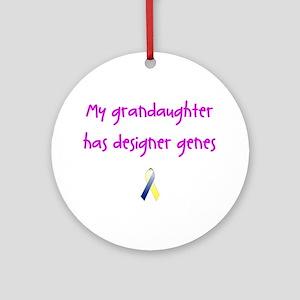 Designer Genes Grandaughter (P) Ornament (Round)
