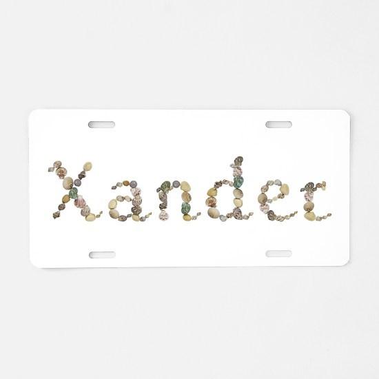 Xander Seashells Aluminum License Plate