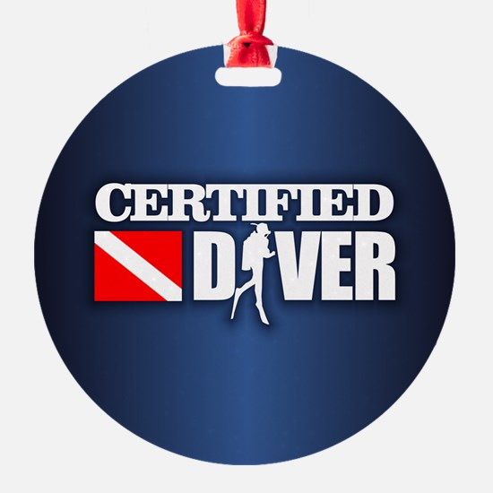 Certified Diver 3 Ornament