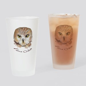 """I love Owls"" Cute Watercolor Owl Bird Art Drinkin"