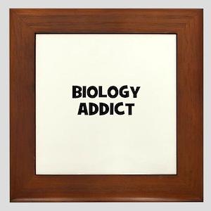 Biology Addict Framed Tile