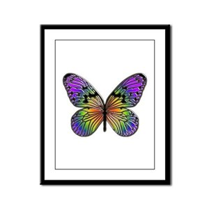 Butterfly Design Framed Panel Print