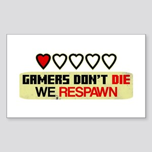 Gamers Don't Die Sticker