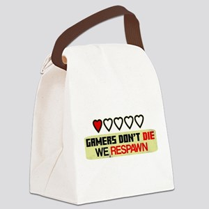 Gamers Don't Die Canvas Lunch Bag