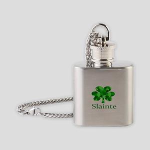 Slainte Shamrock Flask Necklace