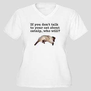 Catnip 2 Women's Plus Size V-Neck T-Shirt