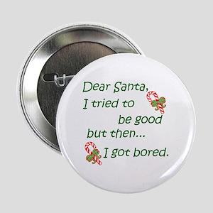 """Dear Santa 2.25"""" Button (10 pack)"""