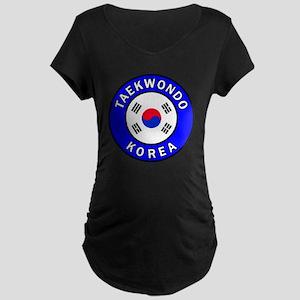 Taekwondo Maternity Dark T-Shirt