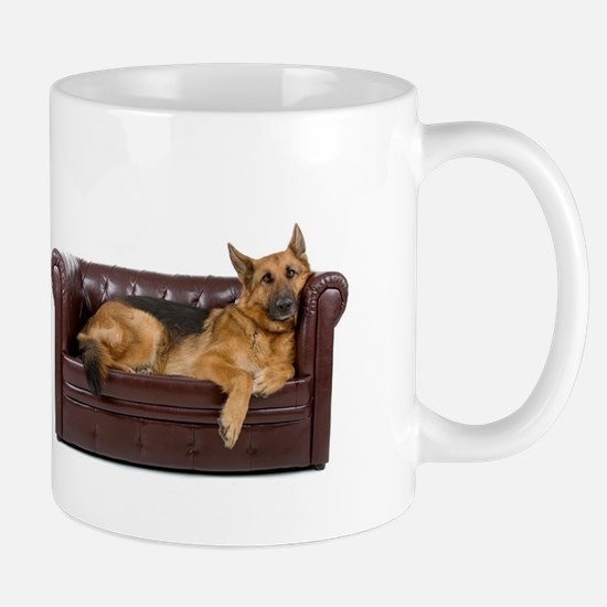 GERMAN SHEPHERD ON COUCH Mugs