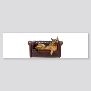 GERMAN SHEPHERD ON COUCH Bumper Sticker