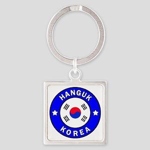 Korea Square Keychain