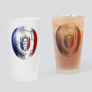 French Soccer Ball Drinking Glass