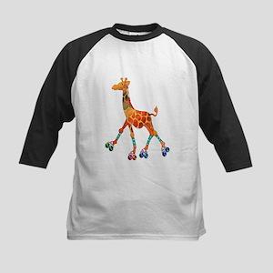 Roller Skating Giraffe Baseball Jersey