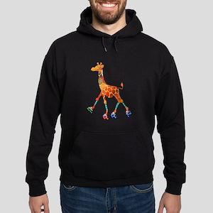 Roller Skating Giraffe Hoodie (dark)