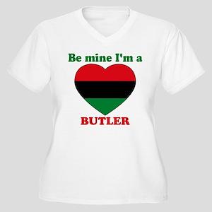 Butler, Valentine's Day Women's Plus Size V-Neck T