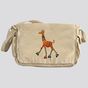 Roller Skating Giraffe Messenger Bag