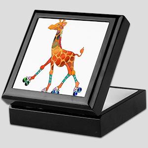 Roller Skating Giraffe Keepsake Box