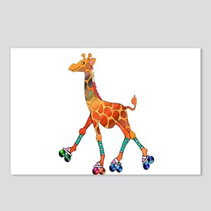 Roller Skating Giraffe Postcards (Package of 8)