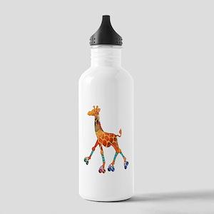 Roller Skating Giraffe Stainless Water Bottle 1.0L