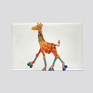 Roller Skating Giraffe Magnets