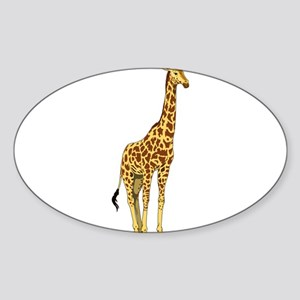 Very Tall Giraffe Illustration Sticker