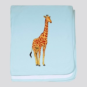 Very Tall Giraffe Illustration baby blanket